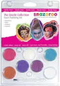 Snazaroo 6 Colour Sparkle & Dazzle Collection Face Painting Kit Water-Based, Easy-On & Easy-Off and Non-Toxic