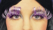 Long Metallic Silver False Eyelashes