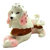"""Objet D'Art Release #349 """"The Toy Poodle"""" Purebred Dog Handmade Jeweled Metal & Enamel Trinket Box"""