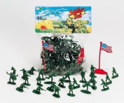 Classic Toy Green Army Men 50 Piece Plastic Soldier Set