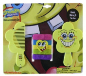 7 Piece Spongebob Hair Accessory Set Comb, Mirror & Terries