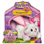 Furreal Friends Snuggimals Snug -A- Puffy White Kitten Bunny Ears