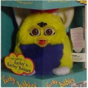 Furby Babies - Yellow with Blue Tummy and Pink Mohawk