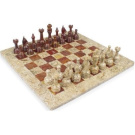 41cm x 41cm White Marble & Black Marble Chess Set Staunton Comes in Free Gift Box, Size Suitable for Pros