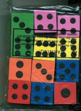 ~ 12 ~ Foam Dice ~ 3.8cm ~ Games Math Teaching ~ NEW