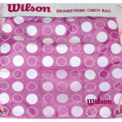 Wilson Drawstring Cinch Bag, Pink Polka Dot Sports Bag, Nylon