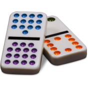 Cardinal Industries Double Fifteen Colour Dot Dominoes in a Collectors Tin