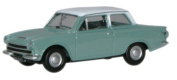 oxford lagoon and white ford cortina MKI car 1.76 scale diecast model