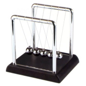 Newton's Cradle - 10cm , Plastic Base, Black