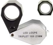 SE Triplet 10X - 21mm LED Illuminated Loupe