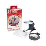 Hobby Magnifier HM-30 3-In-1 LED Lighted Hands-Free Magnifier Set with Neck Cord - 2x 2x-3x 3.5x
