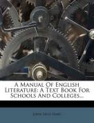 A Manual of English Literature