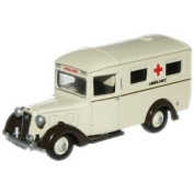 Oxford Diecast Austin 18 Ambulance - 1/76 OO Scale Diecast Model