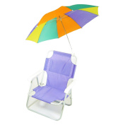 Redmon For Kids Pre-Teen Beach Chair with Multiple Coloured Umbrella, Purple