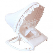 Hoohobbers Rocking Infant Seat, White Pique