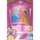 Disney Pink Princesses Curved Night Light with Belle, Cinderella and Aurora All in One