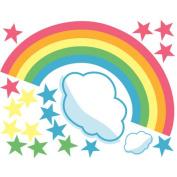 Wallies 2-Sheet Peel and Stick Baby Design, Rainbow Room