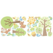 Wallies 2-Sheet Peel and Stick Baby Design, Animal Tales