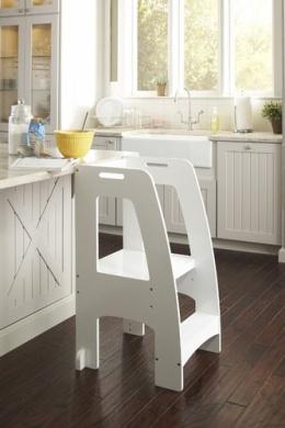 Guidecraft Step Up Kitchen Helper White By Guidecrafts
