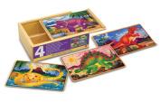 Melissa & Doug Deluxe Dinosaur in a Box Jigsaw Puzzles