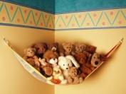 Teddy Hammock Toy Storage Net - White