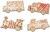 Maple Landmark 73015 MONTGOMERY SCHOOLHOUSE VEHICLE LACE-A-SHAPE- TODDLER TOY