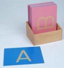 Montessori Sandpaper Letters, Capital Case Print with Box