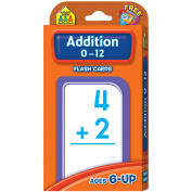 20 Pack SCHOOL ZONE PUBLISHING ADDITION 0-12 FLASH CARDS