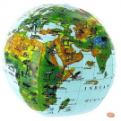 Inflatable Animals of the World Globe - 41cm