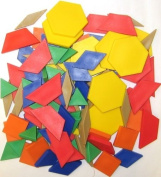 LEARNING RESOURCES LER0634 PATTERN BLOCKS MINI-SET-100/PK .5CM PLASTIC