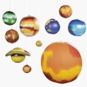 10 Pc Inflatable SOLAR SYSTEM/SCIENCE/Space/PLANETS/SUN/Educational TOOL INFLATE/Teacher