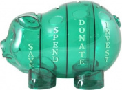 Money Savvy Generation Large Money Savvy Pig in Green
