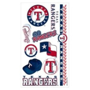 Texas Rangers Official MLB 10cm x 18cm Temporary Tattoos by Wincraft