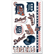 Detroit Tigers Official MLB 10cm x 18cm Temporary Tattoos by Wincraft