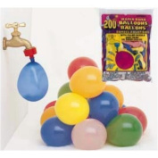 Water Bomb Balloons With Nozzle 200/Pkg-Multicolor