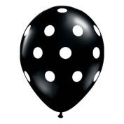 28cm Big Polka Dots Black Balloons