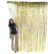 Gold Metallic Foil Fringe Curtains