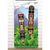 Plastic Tiki Totem Pole Photo Door Banner Luau Party Decoration