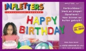 """Infletters Inflatable Letters Boxed Set """"HAPPY BIRTHDAY"""""""