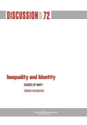 Inequality and Identity