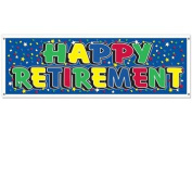 Beistle - 50139 - Happy Retirement Sign Banner- Pack of 12