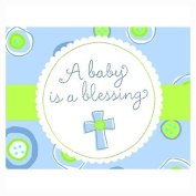 Blessed Baby Boy - Boy Baby Shower Invitations - 8 Count