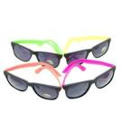 12 Pairs Neon 80's Wayfarer Sunglasses Kids Teen Party Favours