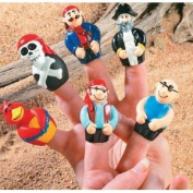 Finger Puppets Toy Pirate Party Favour Cake Topper