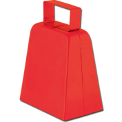Beistle 60939-R - Cowbells - 4 Inches - Red- Pack of 12