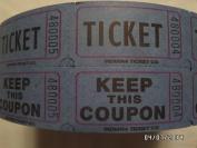 Blue Double Raffle Ticket Roll