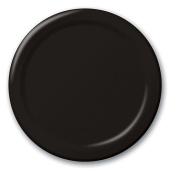 Bulk Value 25cm Plastic Plates Black Package of 50