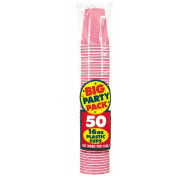 Costumes 203228 New Pink Big Party Pack- 16 oz. Plastic Cups