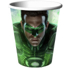 Green Lantern 270ml Paper Cups (8) Party Supplies