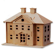 3-D Wooden Puzzle - Country Mansion -Affordable Gift for your Little One! Item #DCHI-WPZ-P071